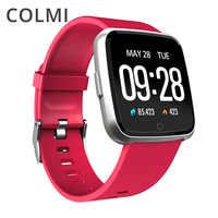 COLMI Astuto della vigilanza IP67 Impermeabile Inseguitore di Fitness Heart Rate Monitor di Pressione Sanguigna degli uomini Delle Donne Orologio Smartwatch Per Android IOS