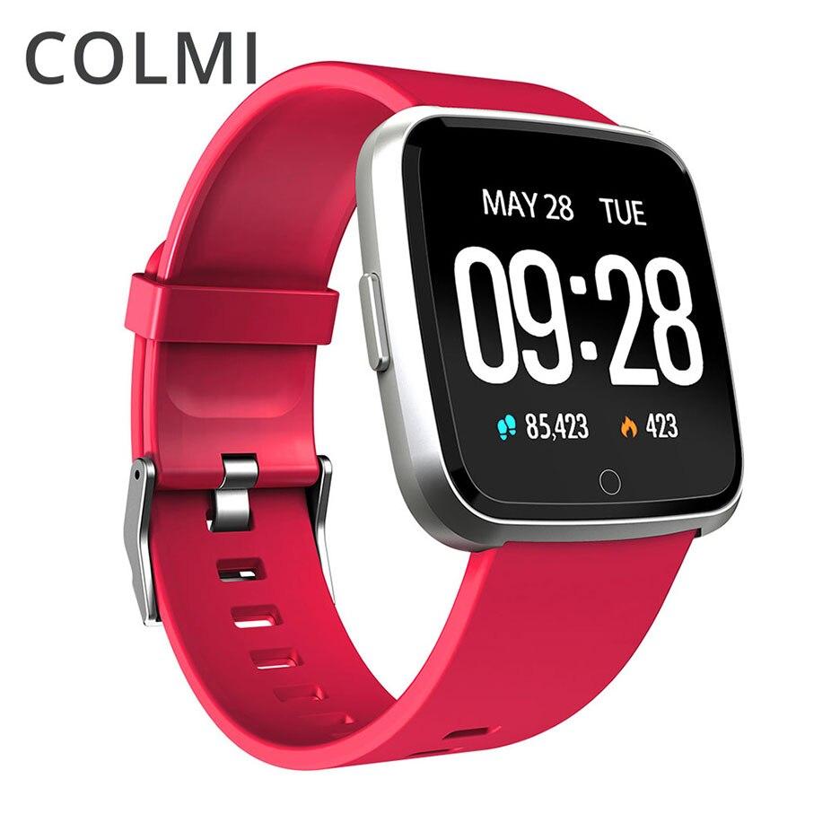 Colme de reloj inteligente IP67 impermeable rastreador de ejercicios Monitor del ritmo cardíaco de la presión de la sangre los hombres y las mujeres reloj Smartwatch para Android IOS