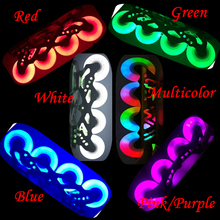 Roller-Skates-Wheel Inline-Skating 90mm Flash Slalom 80mm 110mm 90A LED PU 72mm 76mm