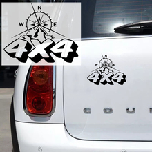 купить CK2735#19*15cm 4x4 compass funny car sticker vinyl decal silver/black car auto stickers for car bumper window car decorations по цене 91.83 рублей