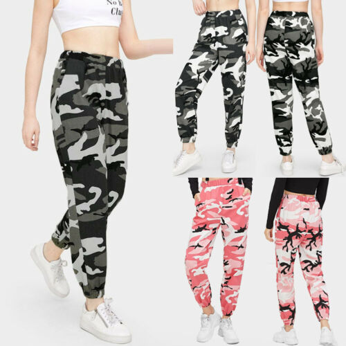 New Women's Camouflage Goods Hip Hop Pants Trousers Casual Sports Camouflage Trousers Hot Pants