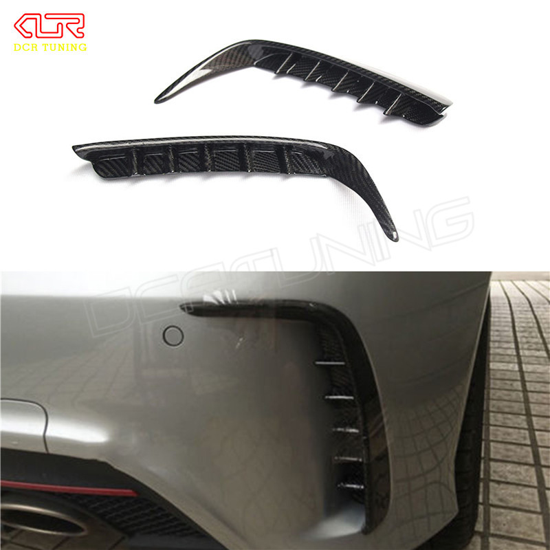 Carbon Fiber Rear Bumper Splitter Trim for Mercedes - Benz W176 A250 A260 A45 AMG 2012 - 2015