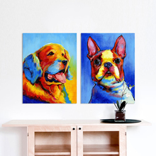 HDARTISAN Wall Art Picture Canvas Print Animal Dog Puppy Oil Retriever Bulldog Chihuahua For Living Room Home Decor