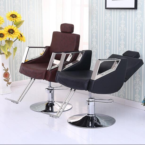 Special Hair Salons Haircut Chair Lift Hydraulic Stool Beauty-care Chair Down