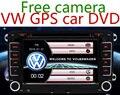 "7"" 2 din Car DVD GPS radio player for Volkswagen VW  golf 5 6 touran passat B6 sharan jetta polo tiguan with free camera"