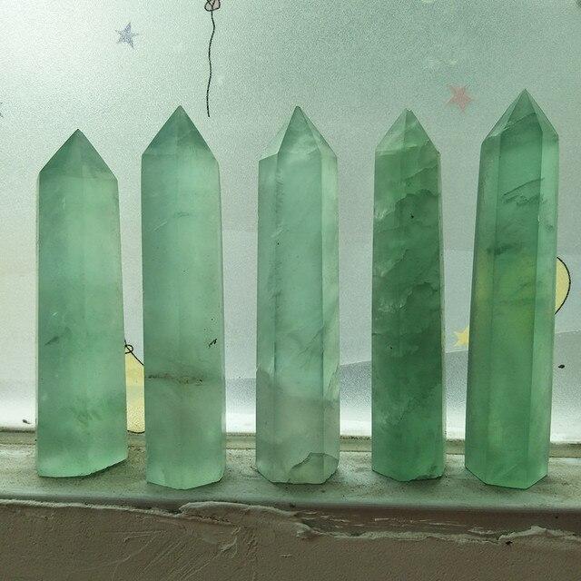 100% natural green jade crystal wand senior transparent jade obelisk reiki healing wholesale prices