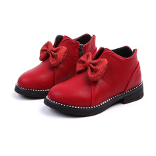 2019Spring New Child Casual Shoes Children Kids Leather Girls Boots Baby Girl 3 4 5 6 7 8 9 10 11 12 13 14Years Old