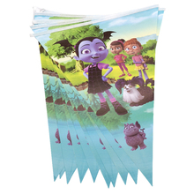 Decoration Happy Baby Shower Vampirina Theme Hanging Banner Birthday Party Bunting Paper Flags Boys Favors Pennants 1set/pack