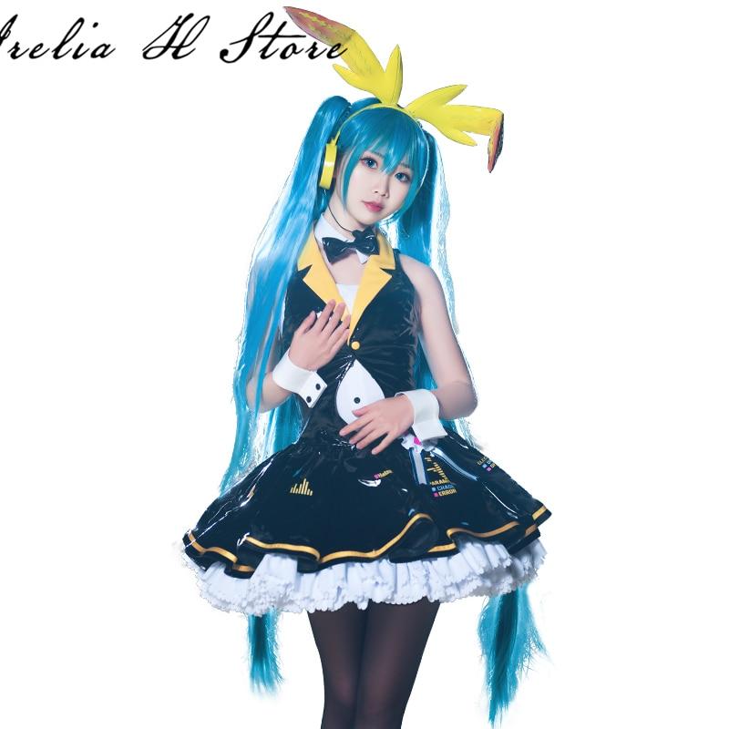 Miku VOCALOID Cosplay Costume Bunny girl Hatsune Miku Kimono cosplay costume dress female