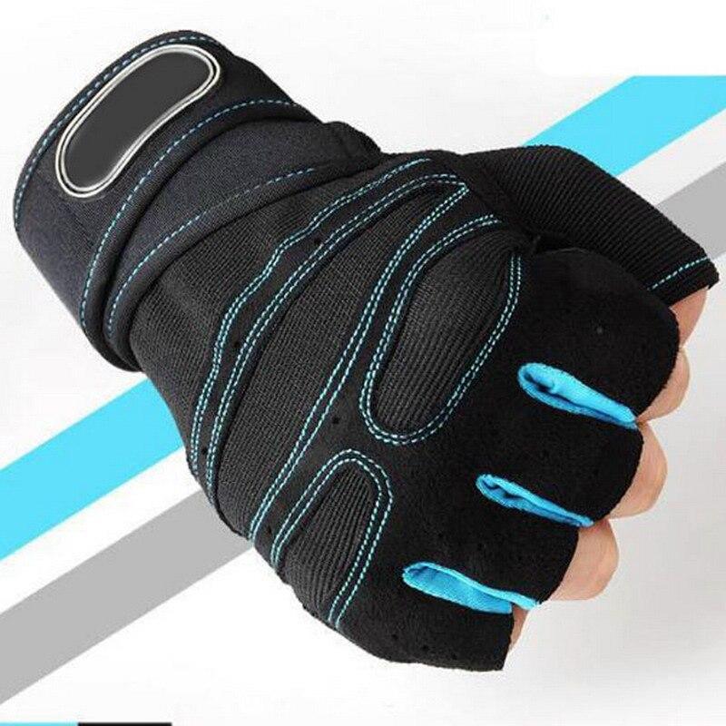 Half Finger Fitness Gloves Weight Lifting Gloves Protect Wrist Gym Training Fingerless Weightlifting Sport Men Women Gloves