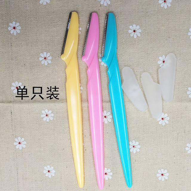 Women Facial Face Razor Eyebrow Trimmers Blades Shaver 3pcs 1