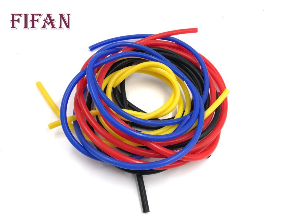 FIFAN 1M Bule Black Red Yellow 3mm/4mm/6mm/8mm Auto Car Vacuum Silicone Hose Racing Line Pipe Tube Car-styling