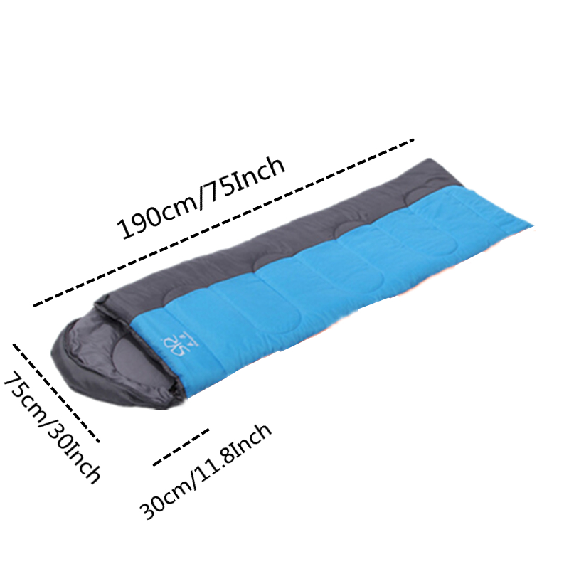 Image 2 - VILEAD 2 Colors Ultralight Envelope Sleeping Bag Waterproof Lightweight Camping Stuff Hiking Sleeping Summer Adult Camp Quilt-in Sleeping Bags from Sports & Entertainment