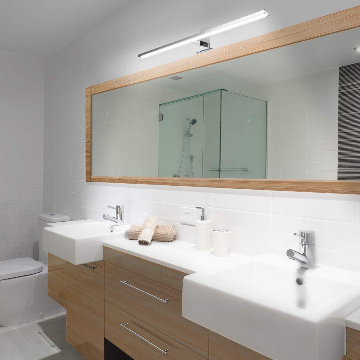 Indoor Led Wall Light Mirror Wall Lamp 10W 800LM White 60cm Waterproof Aluminum Lighting Bathroom Restroom Mirror Makeup light