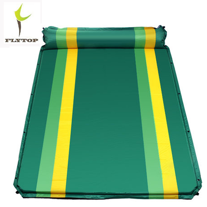 FLYTOP Camping Double Mat Outdoor Mattress Self-inflating Beach Mat Air Mattress With Inflatable Pillow Air Bed Sleeping Pad inflatable mattress beach mat automatic air mattress camping mat air bed with pillow sleeping pad 193 65