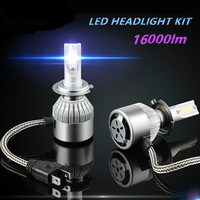 LED Headlight Bulb H1 H3 H4 H7 H8/9/11 H13 Car Auto Bulb Lamp 9004 9005 9006 9007 9012 880 881 COB 2PCS Car Kit
