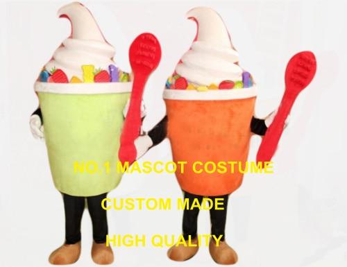 1 piece any color polular ice cream mascot costume adult size cartoon icecream theme summer ice food advertising dress 2591