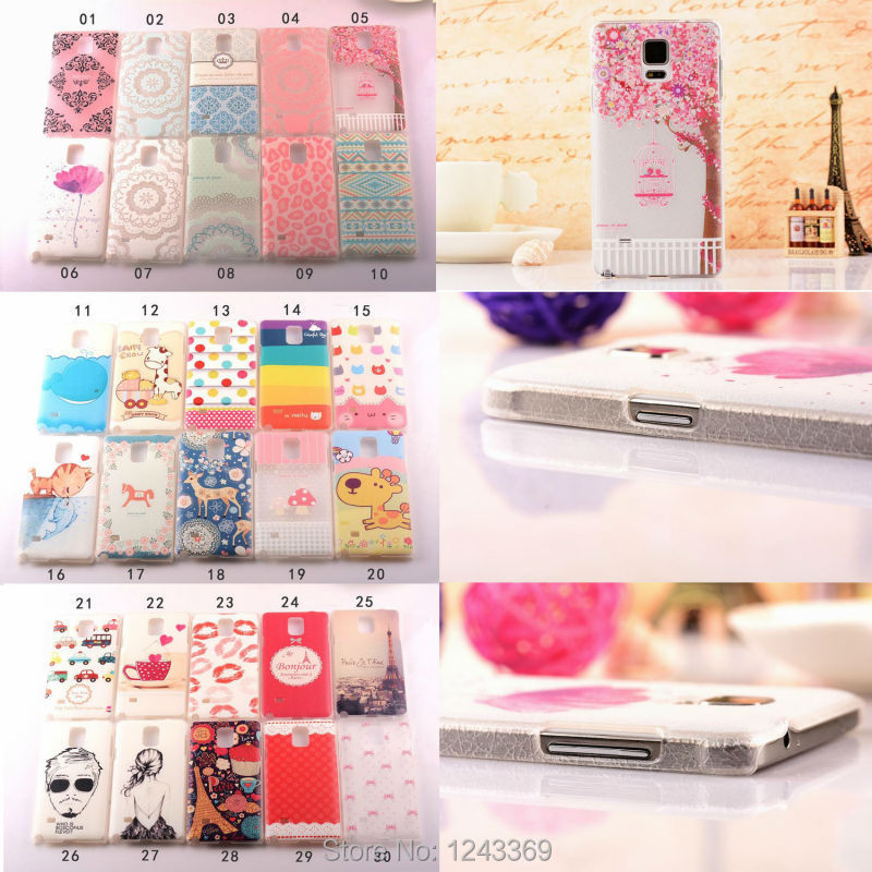 Ultra thin cute lovely cartoon painted back case cover Samsung Galaxy Note 4 N9100 - HOUSHINE TECHNOLOGY HOLDING LTD STORE store