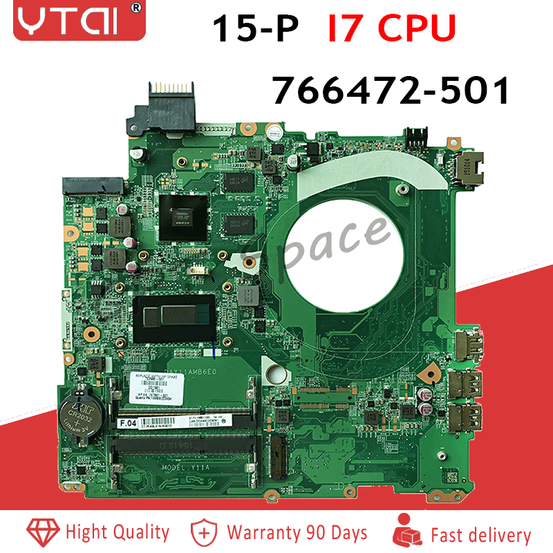 766472-501 15-P Motherboard For HP 15-P Laptop Motherboard I7-4510CPU 766472-601 766472-001 DAY11AMB6E0 Tested Ok!