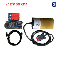 Ship free New Blue pcb VD DS150E CDP with Bluetooth Delphis for car truck Scanner 2015R3 keygen/2016R0 free active by email