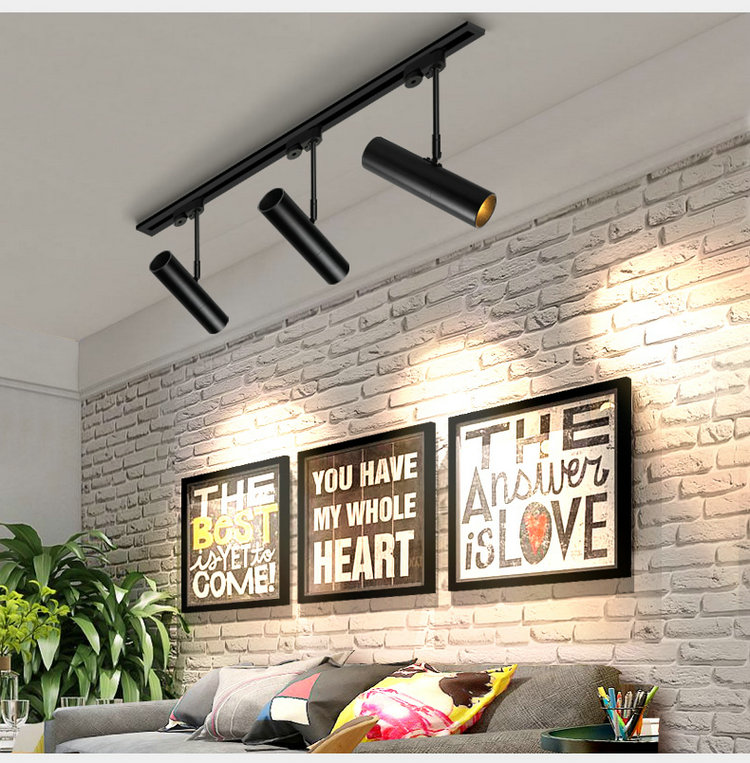 3W 5W 7W 12W 15W Exhibition Landscape Wall Spot lights Black White Flexible Track Lamp Coffee Shop Ceiling LED Indoor Spotlight in LED Indoor Wall Lamps from Lights Lighting