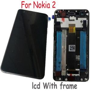 Image 2 - LTPro מקורי חדש הטוב ביותר LCD תצוגת מסך מגע Digitizer הרכבה חיישן + מסגרת עבור Nokia 2 N2 TA 1007 TA 1029 TA 1035 TA 1011