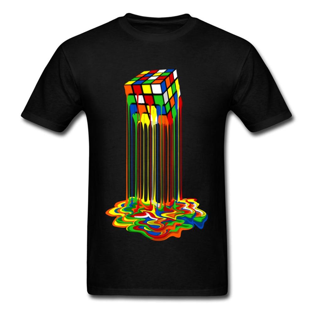 Gute Qualität Cube T-Shirts Regenbogen Abstraktion Cube Sheldon Cooper T Shirt Großen Rabatt Beste T Hemd Frauen Männer Lustige Tops t