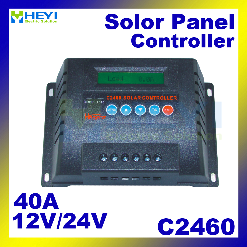C2460-40 Solar Charge and Discharge Controller 40A 12/24V solar controller pwm LCD parameters adjustableC2460-40 Solar Charge and Discharge Controller 40A 12/24V solar controller pwm LCD parameters adjustable