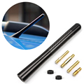 Universal Car Antenna FM AM Radio Carbon Fiber Short Car Aerial For Ford Focus Toyota VW Auto Accessories
