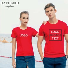 Your OWN Design Brand Logo/Picture Custom Men and women DIY T shirt Short sleeve Customized logo Print tshirts Drop Shipping
