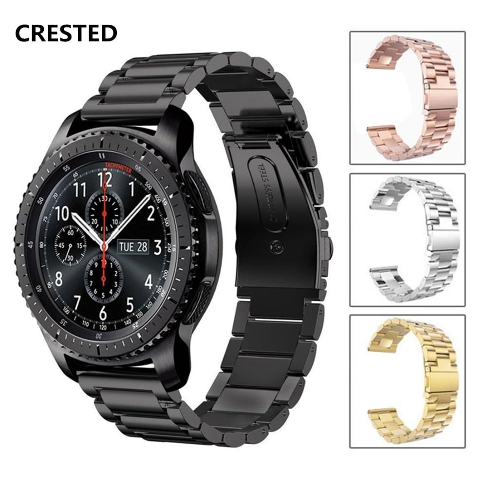 So buy for Samsung s3 2 watch band Huawei intelligent mechanical quartz strap stainless steel metal bracelet 23mm 22mm 20 18mm стоимость