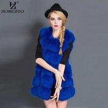 HONGZUO 2016 Winter Thick Warm Faux Fur Vest Women's Faux Fox Fur Coat Outerwear Women Fur Vest Jacket Overcoat Long Parka PC043