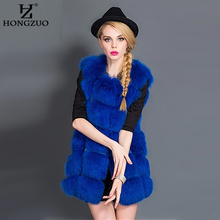 Women s Faux Fox Fur Coat 2017 Winter Thick Warm Rose Fur Vest Outerwear Women Fur