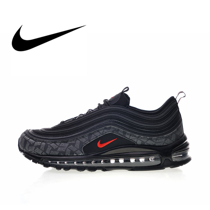 Originale Autentico Nike Air Max 97 Riflettente Logo 2018 Uomini Scarpe Runningg Scarpe Sport Outdoor Scarpe Da Ginnastica di Nuovo Arrivo AR4259-001