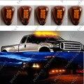 Frete Grátis 5 pcs Mini LED Âmbar Táxi Telhado Marcador Correndo Luzes de Advertência para o Carro Caminhão SUV 4x4 captador