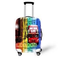 ONE2 London bus stile chiaro bagagli copertura elastico personalizzato poliestere spandex bagagli wheel cover per ragazzi ragazze student