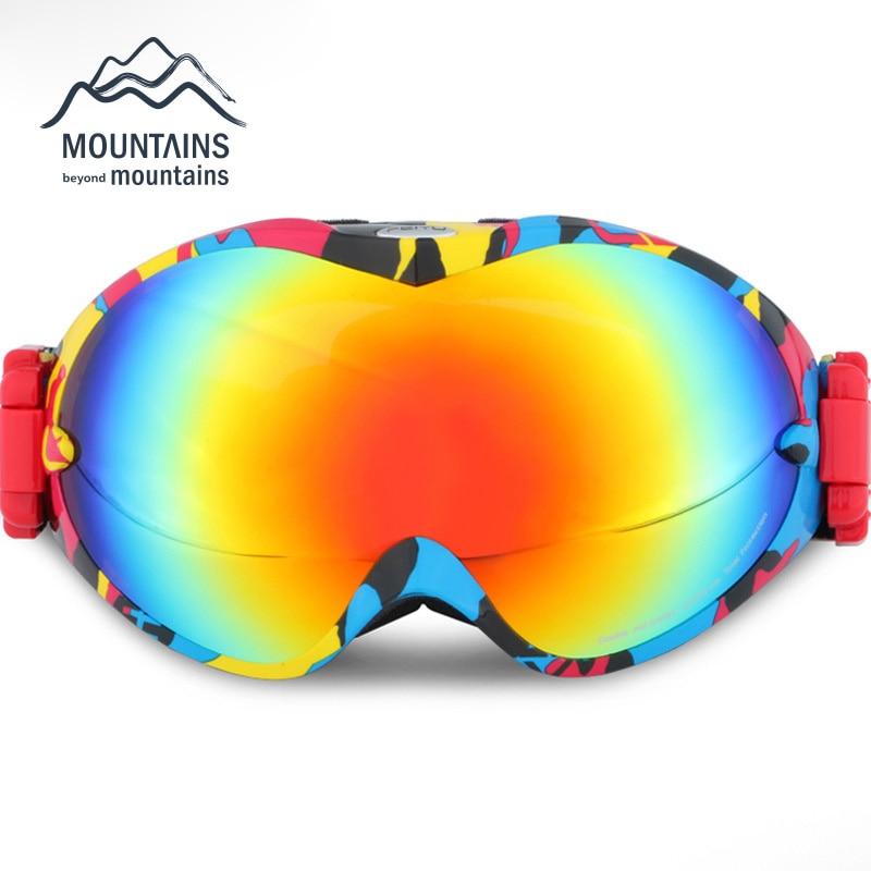 Prix pour Ski Lunettes Double UV400 Anti-brouillard Grand Masque de Ski Lunettes de Ski Hommes Femmes Neige Snowboard Lunettes Vélo Motocyclette Googles