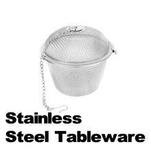 2016 Durable Mesh Tea Ball Strainer Of Silver Reusable Stainless Herbal Ball Tea Spice Strainers Teakettle Locking Tea Filter
