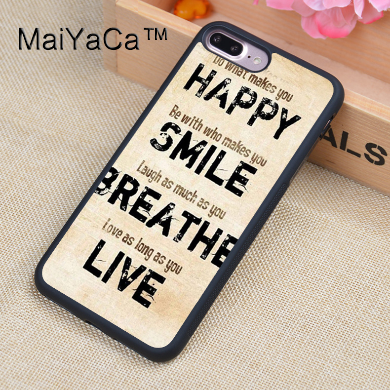 MaiYaCa what makes you happy Quotes Cell Phone Cases For iphone 7 Plus For Apple iPhone 7Plus TPU Back Cover Cases Coque image