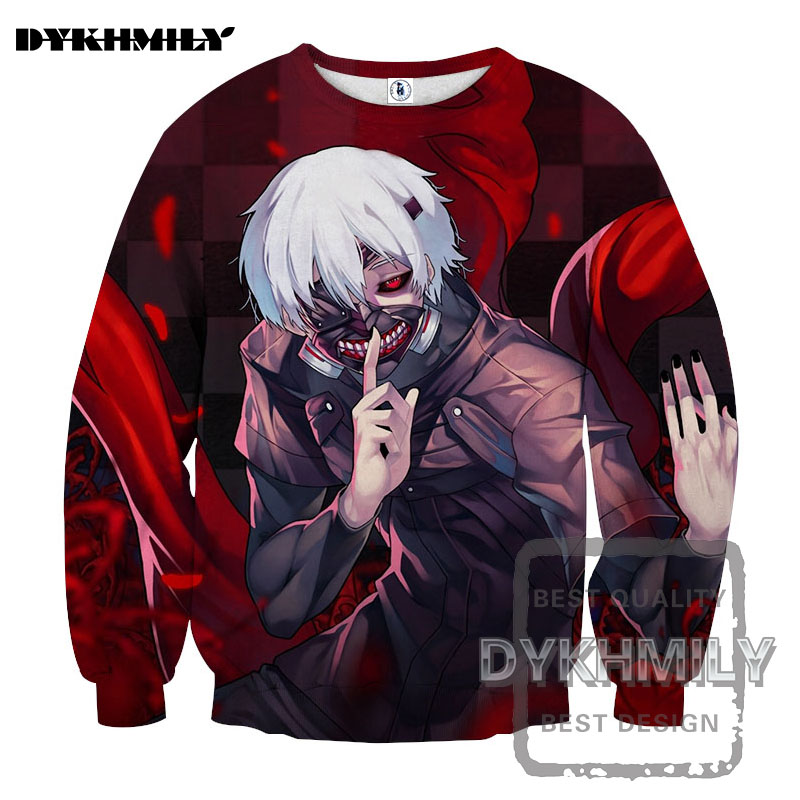 anime tokyo ghoul 2017: Dykhmily 2017 Hot Sell 3d Tokyo Ghoul Funny Print Anime