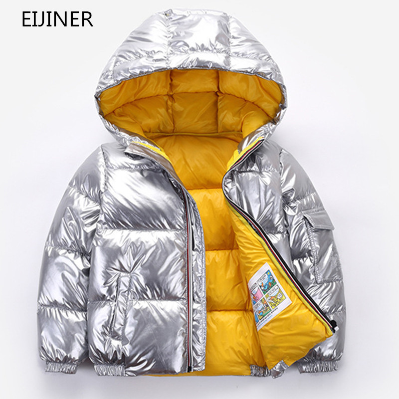 Children Winter Down Coat 2018 Silver Pink Red Black Boy Down Coat Hooded Thick Girls Down Jacket Warm Kids Outerwear Snowsuit les enfantsfashion girls winter thick down jacket sleeveless hooded warm children outerwear coat casual hooded down jacket