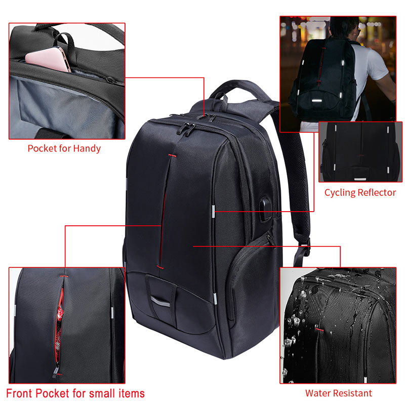 1575274cf3 KALIDI 17 inch Laptop Backpack with USB Port