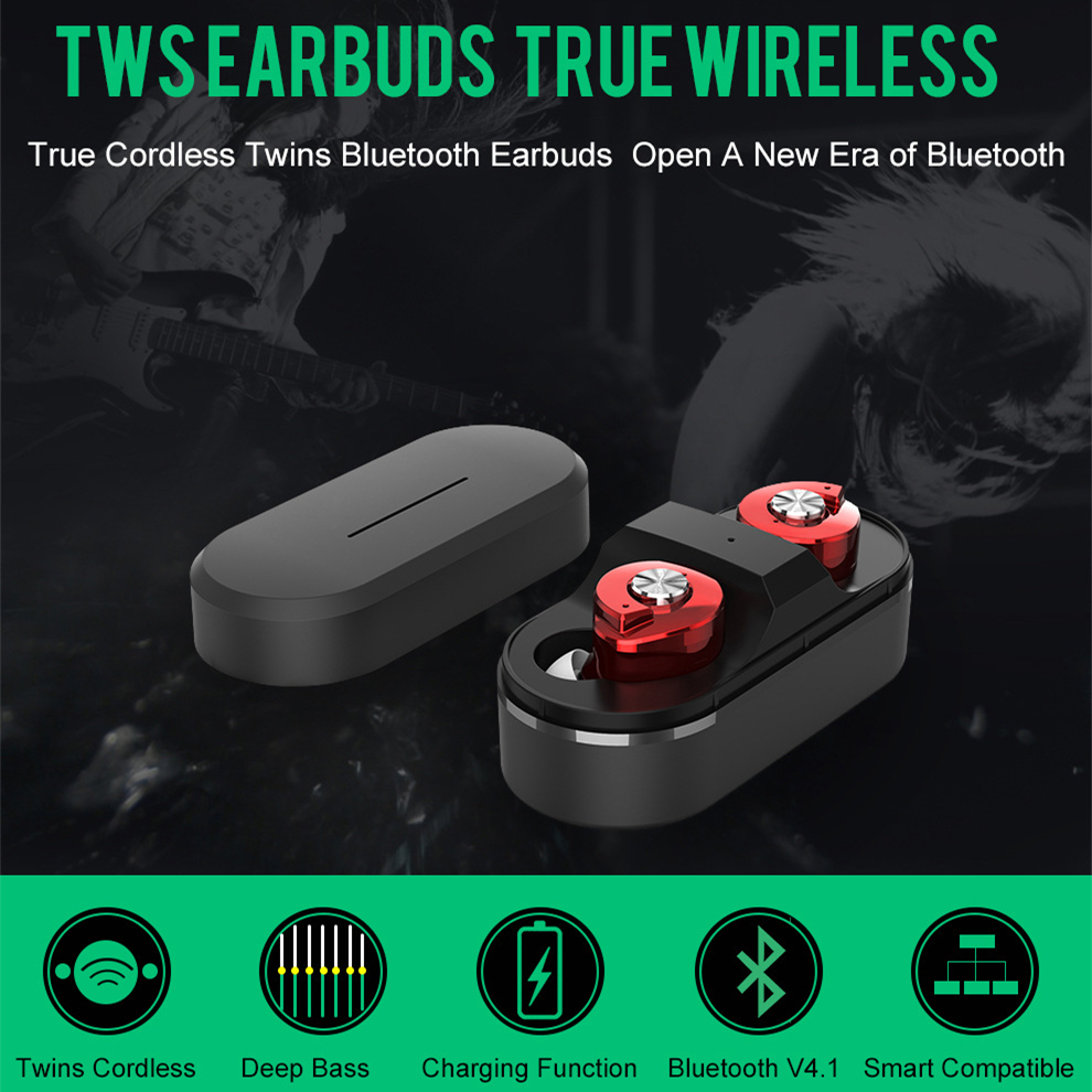 OLLLY Wireless Earbuds,Bluetooth Earphones with Charge Box Noise Cancelling Sweatproof Mini Bluetooth Earphones for Smartphones wireless bluetooth sport earphone noise cancelling sweatproof earbuds magnetic earphones