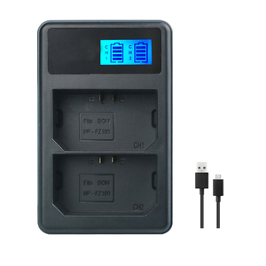 Image 3 - Npfz100 np fz100 bateria NP FZ100 bateria + carregador lcd para sony ILCE 9 a7m3 a7r3 a9/a9r 7rm3 BC QZ1 alpha 9 9 s 9r câmera digital