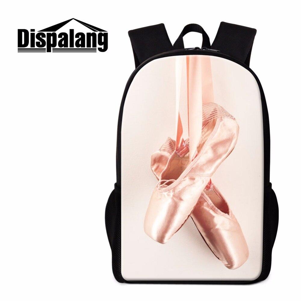 Dispalang Балетные костюмы носком рюкзак с принтом для Обувь для девочек милые школьные Back Pack девчушки рюкзаки художественный Bagpack Mochilas для дете...