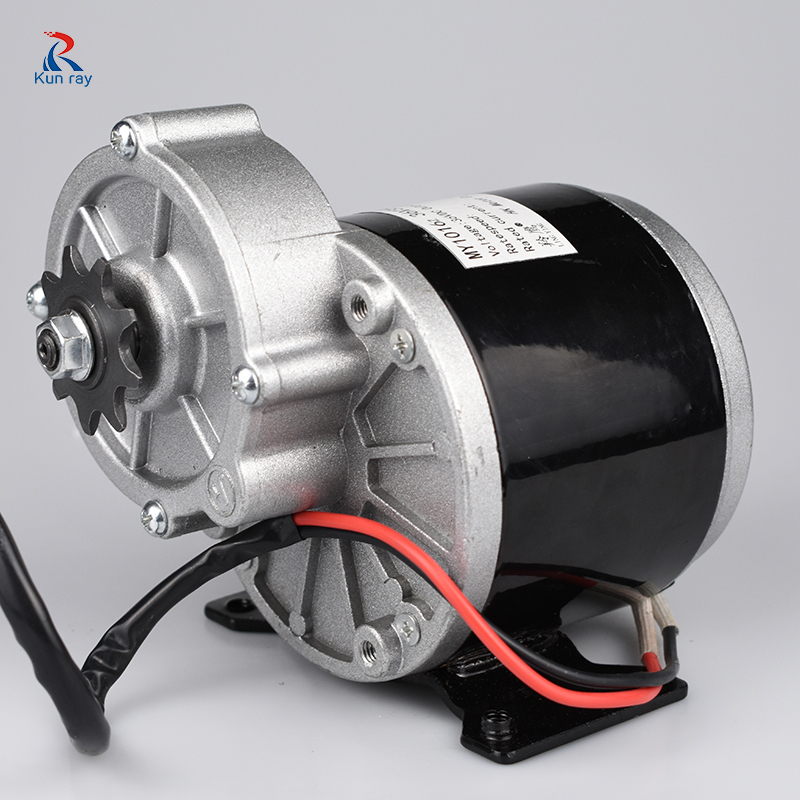 LINGYING MY1016Z 24V 36V 350W Brush DC Gear Motor,Electric Bicycle MTB Bike Ebike Brushed Motor,Electric Chair Wheel Motor