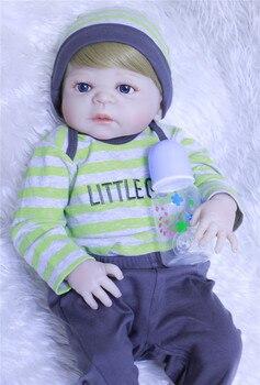 DollMai 23 Bebes reborn boy dolls whole silicone body dolls reborn baby toy doll gift