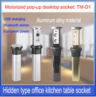 Motorized pop UP Power Outlet/Touch screen electric intelligent lifting socket with USB charging/ hidden desktop socket /TM D1