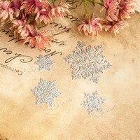 4 unids/set scrapbooking muere metal Snowflake patrón Relieves de papel carpeta troquelado papel decorativo tarjetas álbum de fotos artesanía