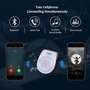 Image 5 - חדש רכב Bluetooth ערכת T821 דיבורית תמיכת רמקול Bluetooth 4.1 EDR אלחוטי לרכב מיני Visor יכול ידיים משלוח שיחות